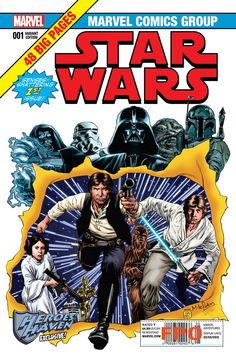 Marvel Star Wars #1, cover variant by Mike Perkins