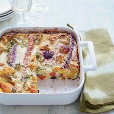 This clever, savory twist on clafoutis features a colorful mixture of roasted vegetables in a custardy batter flavored with Parmigiano-Reggiano.