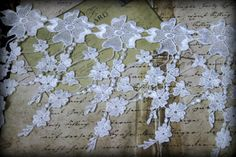 White Venice Lace for Bridal Costume Design Lace by TresorsdeLuxe, $6.95