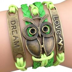Retro Neon Owl Arm Party Bracelet
