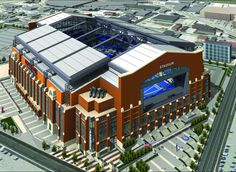 Lucas Oil Stadium home of the Indianapolis Colts!!! It's beautiful in person!