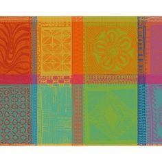 Set de table fantaisie Garnier-Thiebaut - Modèle : Mille wax - Set de table en coton - Coloris : multicolore