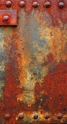 Rust and decay. I like rust - it suggests man made, strong metal but also its fragility against the strength of nature Rust Paint, Rusted Metal, Metal Art, Patina Metal, Peeling Paint, Paint Effects, Art Abstrait, Texture Art, Painting Techniques