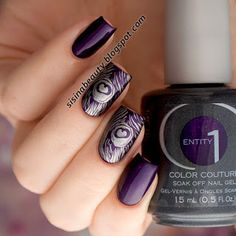 Beautiful stamping nails>> http://www.ladyqueen.com/letter-feather-nail-art-stamp-template-image-plate-hehe035.html