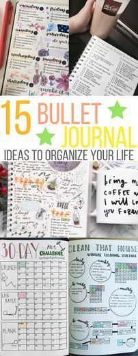 bullet journal ideas and inspiration to organize your life and thoughts. weekly planner goals diary list tracker monthly