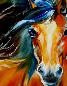 """""""Equus IV (detail)"""" par Marcia Baldwin"""
