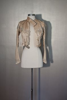 White Victorian Wedding Jacket  Pearl by SalvatoCollection on Etsy, $229.31
