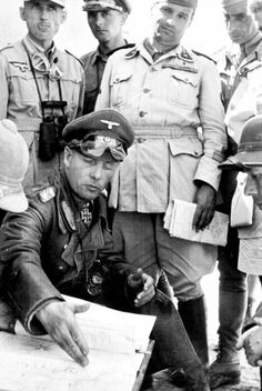 Rommel with Italian and German officers