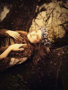 """So full of dreams"". Eniko Mihalik by Ellen Von Unwerth for Vogue Italia July 2012"
