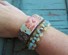 https://www.etsy.com/listing/200371418/semi-precious-stone-leather-bracelet?ref=related-2