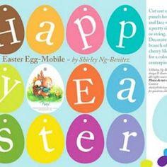 Free Printable Easter Egg Mobile or Banner