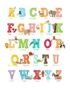 Looking for an alphabet print that I could print on a sheet of paper. Love this one!