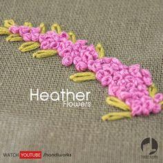 Learn 10 Embroidery flowers by HandiWorks