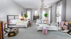 Holiday House — a decorator show home held annually on New York City's Upper East Side — could not be more fittingly named. For one, the house provides the Nyc Holidays, Sophisticated Bedroom, Crystal Chandelier Lighting, Outdoor Furniture Sets, Sweet Home, House Design, Interior Design, House Styles, Inspiration
