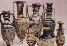 Vasijas fenicias encontradas en Gadir,España