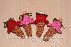 Mini-Ice Cream  (para decorar) | Andrea Cristiani Mary Hirota Zanon | 1623E7 - Elo7