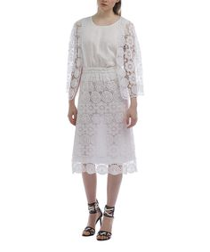 This White Lace Cardigan Set - Women & Plus by JSong is perfect! #zulilyfinds