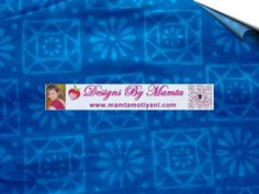 Floral Squares Block Printing Fabric Indian Block Print in Dark Blue