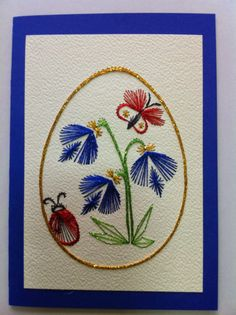 Latest Trend In Embroidery on Paper Ideas. Phenomenal Embroidery on Paper Ideas. Embroidery Cards, Embroidery Thread, Embroidery Patterns, Stitch Patterns, Sewing Patterns, Pin Card, String Art Patterns, Thread Art, Button Art
