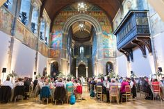 Wedding breakfast - summer wedding at Mansfield Traquair, one of Edinburgh's most unique venues   Photo credit Stuart Craig Photography