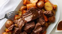 Classic pot roast—in your Instant Pot®? Yes, you read that right. Feast on perfectly seasoned, fall-apart-tender beef roast plus all the extras, like carrots, potatoes, onions and celery, in a fraction of the time it used to take. Our easy Instant Pot® roast beef takes the classic recipe and reinvents it for today's kitchen. Save it to your recipe box now, and keep it for a lifetime! Pot Roast Recipes, Beef Recipes, Dinner Recipes, Cooking Recipes, Dinner Ideas, Cooking Beef, Beef Chuck Roast, Roast Beef, Roast Chicken