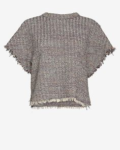 #INTERMIX #SWEEPSTAKES IRO Devan Frayed Tweed Top: A classic tweed styled with a sporty deconstructed look makes for an a cool layered aesthetic. Short sleeves. Frayed hem. In black/white/red/blue. Fabric: 85% cotton/9% acrylic/2% polyamide Length from shoulder to hem: 21 for size 36 Made in ...