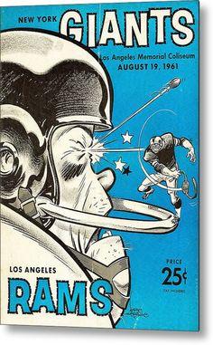 Rams Metal Print featuring the photograph Los Angeles Rams Vintage Program by Joe Hamilton