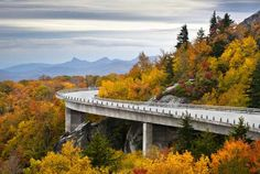 Blue Ridge Mountains - Dave Allen Photography/Getty Images. North Carolina  If you want to be stunned by the beauty of leaves that keep on changing colors, North Carolina is the place for you. The Grandfather Mountain, the Uwharrie National Forest, and the Banner Elk are some of the best places to experience the hues.  (Pictured) Blue Ridge Mountains