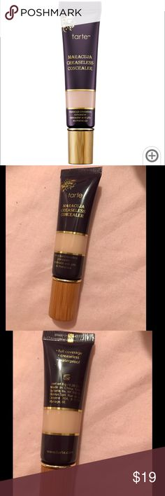 Tarte maracuja creaseless concealer NWOB- new and unused without the box, 100% authentic money back guarantee. Purchased directly from Sephora. This concealer is in the shade 'light' 👈🏻 I'm only selling because I use a different concealer now. This use to be my absolute favorite and literally covers EVERYTHING you need covered lol This product is a holy grail because tartes shape tape! Any questions please feel free! 💕 tarte Makeup Concealer