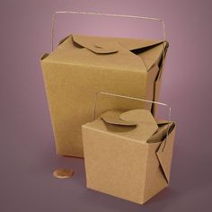 Kraft Wire Handle Boxes