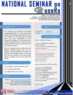 Promoting free latex software in upm the laboratory of statistical invitation national seminar on r users to all lecturers researchers and students we are toneelgroepblik Images