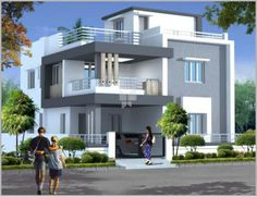 Durga Homes Phase - II offers 4 BHK Apartments/Flats upto 3000 SqFt starting at Lakhs in Chandanagar, Hyderabad. Two Story House Design, 2 Storey House Design, Village House Design, Kerala House Design, Bungalow House Design, House Front Design, Two Storey House Plans, Modern Exterior House Designs, Best Modern House Design