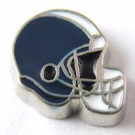 FloatingCharmLockets.com - Football Helmet - Navy Blue with White Stripe (Silver Base) Floating Charm, $1.25 (http://stores.floatingcharmlockets.com/products/football-helmet-navy-blue-with-white-stripe-silver-base-floating-charm.html)