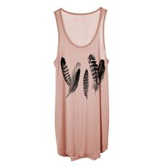 77ff7f1ab5 Feather print jersey tank top Feather print jersey tank top in Rose Tops  Tank Tops Főiskolai