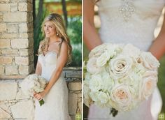 Beautiful ivory and blush bouquet design by Kari Shelton | Camp Lucy | Ian's Chapel | Doberenz Photography | Texas hill country wedding http://www.theflowergirltx.com/