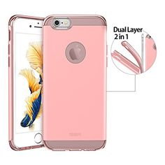iPhone 6 Case, iPhone 6 Case Hybrid, iPhone 6 Case Bumper Bumper ESR [Yippee Plus Series] [2 in 1][Dual Layer Protection] Cover for 4.7 inches iPhone 6s(2015)/iPhone 6 (2014)(Sweet Pink) ESR http://www.amazon.com/dp/B017363UEG/ref=cm_sw_r_pi_dp_dWEzwb11VVA3A