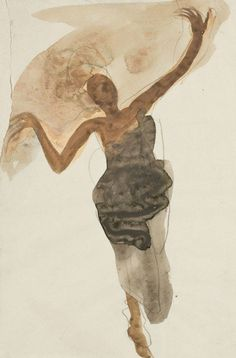 "Auguste Rodin - "" Danseuse cambodgienne "", c. - Watercolor and lead pencil on paper - x 20 cm Rodin Drawing, Painting & Drawing, Auguste Rodin, Life Drawing, Figure Drawing, Bokashi, Dance Paintings, Art Moderne, Art For Art Sake"