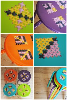 Cross Stitch Stools