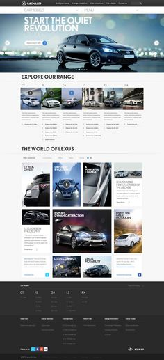 Lexus 'Creating Amazing' by Sean Hobman, via Behance