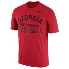 NCAA Georgia Bulldogs Mens Red Nike Legend Performance T-Shirt