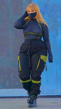 Thick Girls Outfits, Curvy Girl Outfits, Cute Casual Outfits, Plus Size Outfits, Chubby Fashion, Thick Girl Fashion, Look Plus Size, Modelos Plus Size, Streetwear Fashion