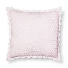 Crochet Square Pillow - Pink - Simply Shabby Chic® : Target