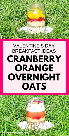 Valentine's Day healthy breakfast ideas: Cranberry orange coconut overnight oats with coconut milk and with chia seeds for breakfast in bed. Clean eating breakfast recipes, food and drink Clean Eating Oatmeal, Healthy Oatmeal Breakfast, Clean Eating Breakfast, Healthy Breakfast Recipes, Healthy Snacks, Breakfast Ideas, Eating Healthy, Healthy Recipes, Coconut Milk Recipes
