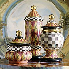 MacKenzie-Childs canisters