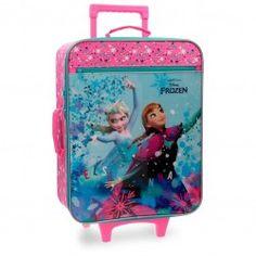 fee64e478 Maleta Blanda Frozen Star Maletas Disney, Cremalleras, Bolsillos, Ruedas,  Verano, Frozen