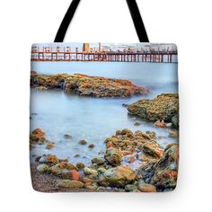 Tote Bags - Silky Waters Tote Bag by Nadia Sanowar
