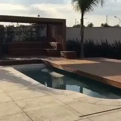 Such a clever design idea converting a pool to a deck by GUSTAVO CESAR. Click the image to try our free home design app. Keywords: clever house ideas, clever home design, unique home design ideas, coo Backyard Pool Designs, Swimming Pools Backyard, Swimming Pool Designs, Pool Landscaping, Backyard Patio, Home Design, Unique House Design, Clever Design, Design Ideas