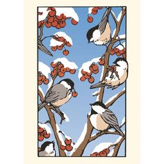 Chickadee's Feast Note Cards