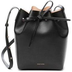 Mansur Gavriel Black/Ballerina Mini Bucket Bag (4 370 SEK) ❤ liked on Polyvore featuring bags, handbags, shoulder bags, miniature purse, mansur gavriel, mini purse, bucket bags and mini bucket bags