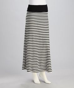 Take a look at this Black Stripe Fold-Over Convertible Dress - Women by Retro Rags on #zulily today!